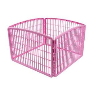 enclos-confinement-chien-rose