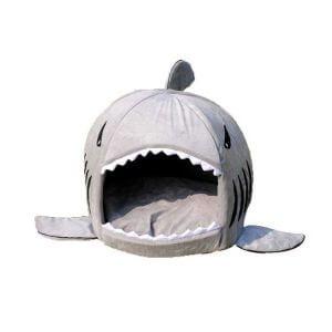 Lit requin pour chien chat