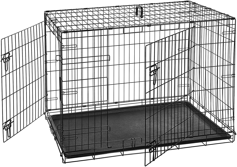 Cage metal AmazonBasics chien